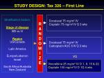 study design tax 326 first line