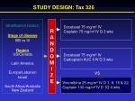 study design tax 326