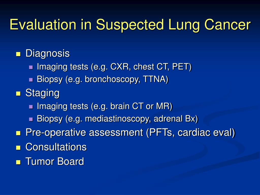 Evaluation in Suspected Lung Cancer