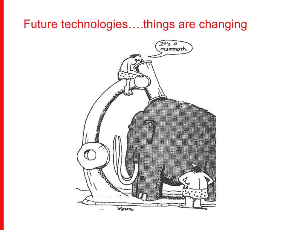 Future technologies….things are changing