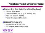 neighborhood empowerment