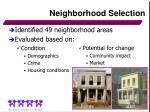 neighborhood selection
