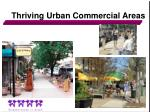thriving urban commercial areas