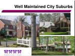 well maintained city suburbs