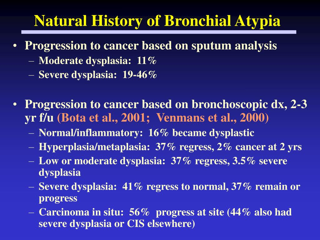 Natural History of Bronchial Atypia