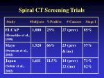spiral ct screening trials