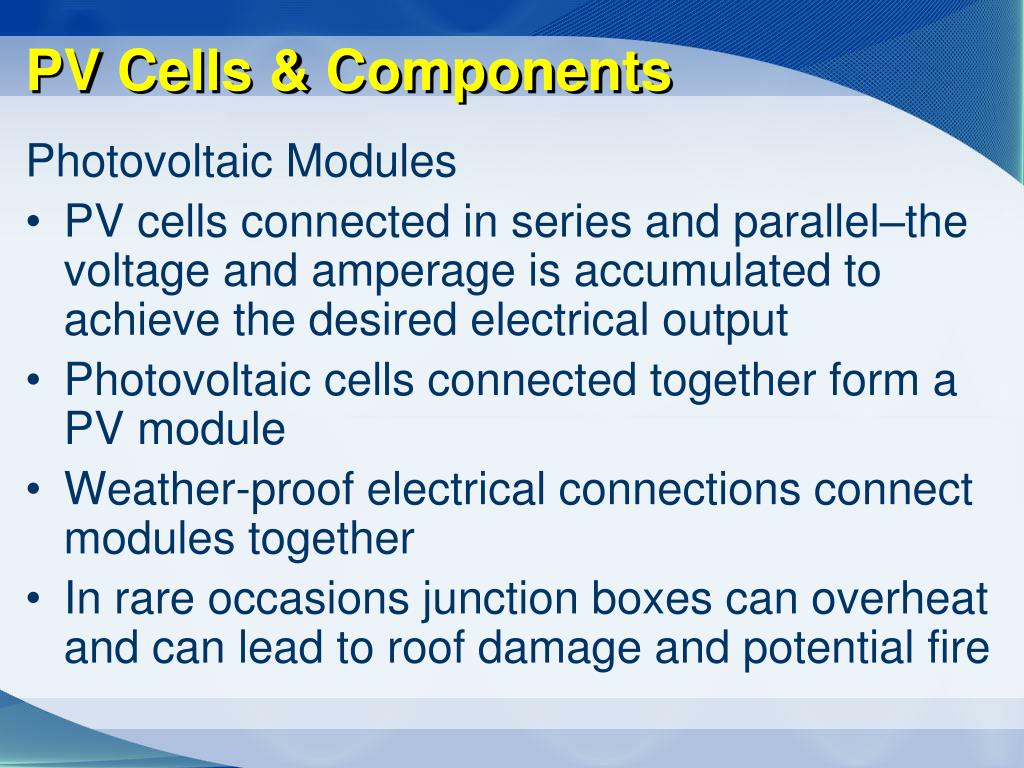PV Cells & Components