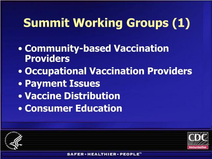 Summit Working Groups (1)