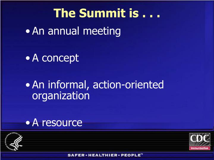 The summit is