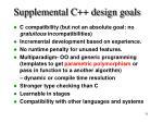 supplemental c design goals