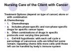 nursing care of the client with cancer23