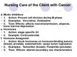 nursing care of the client with cancer25