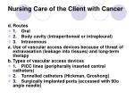 nursing care of the client with cancer27