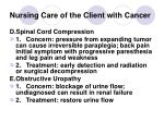 nursing care of the client with cancer39