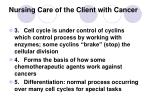 nursing care of the client with cancer6