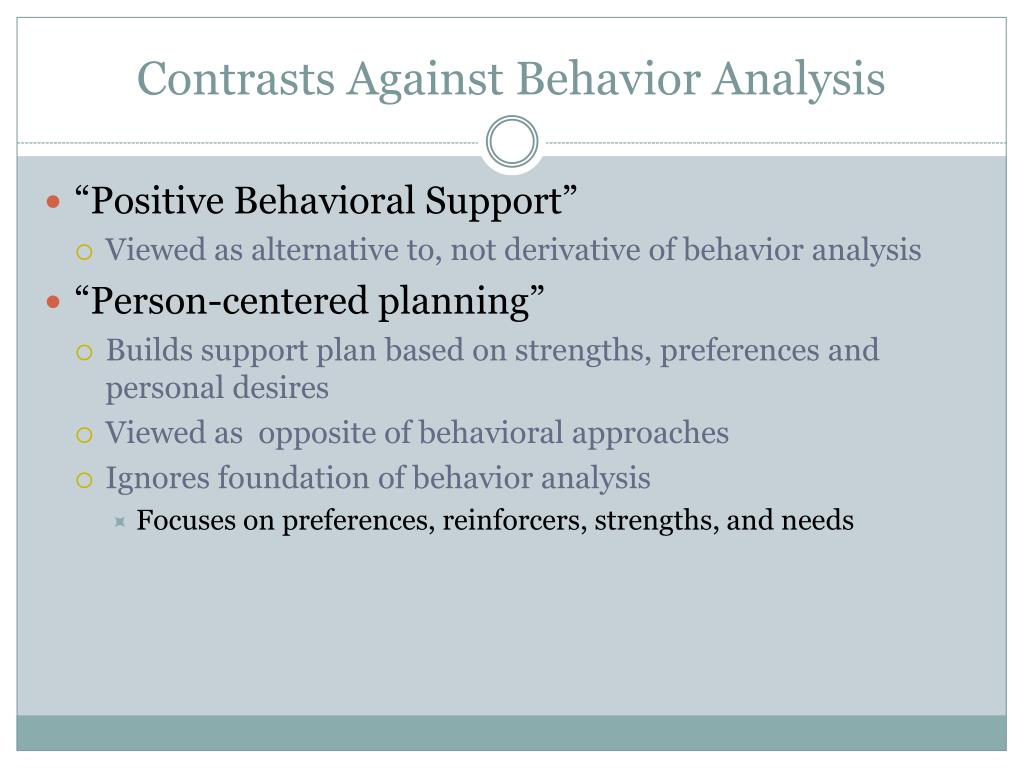 Contrasts Against Behavior Analysis