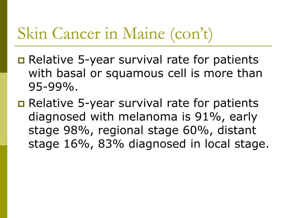 Skin Cancer in Maine (con't)