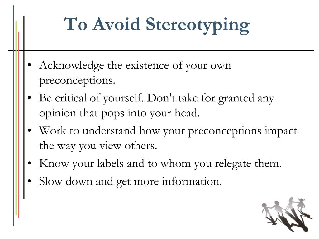 steps on how to avoid stereotyping