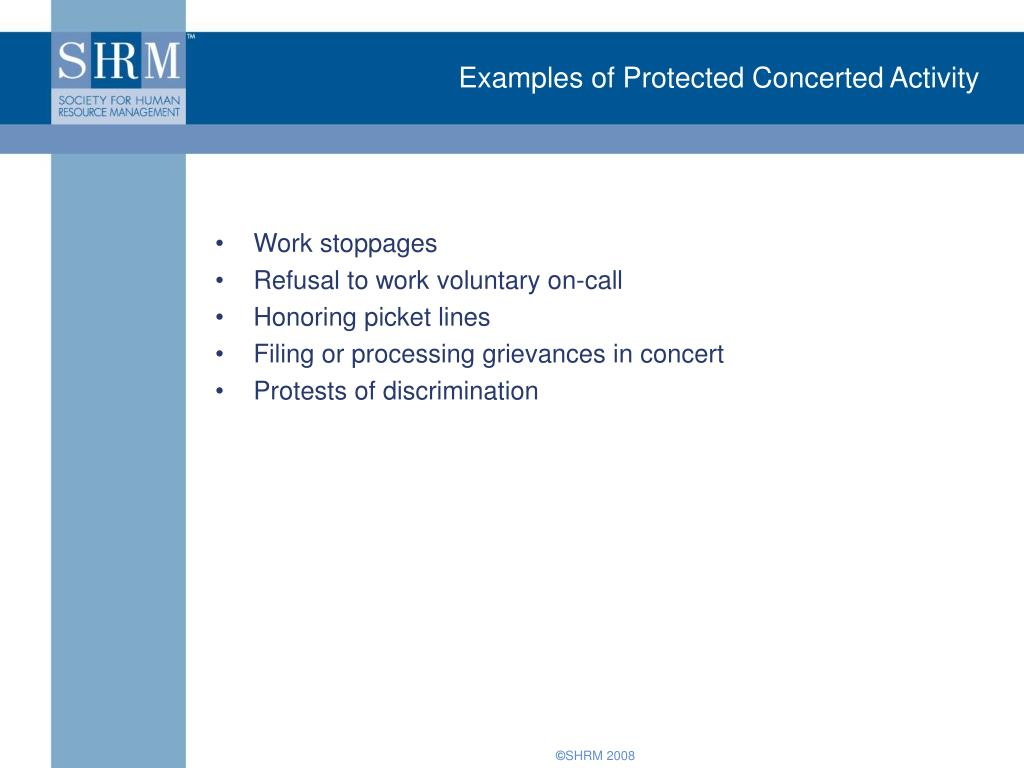 Examples of Protected Concerted Activity