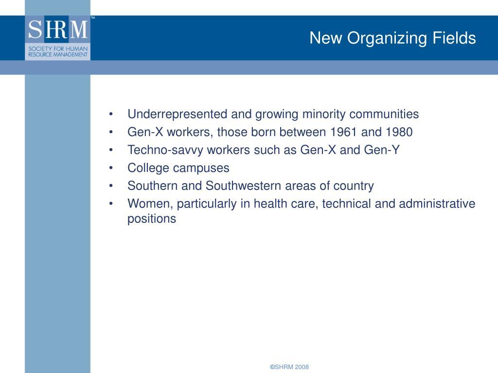 New Organizing Fields