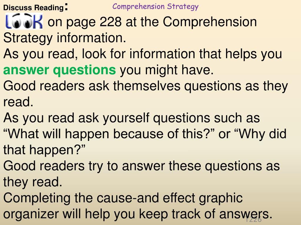 Discuss Reading