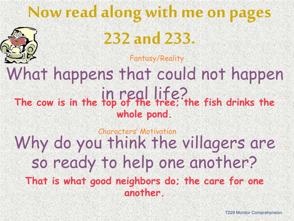 Now read along with me on