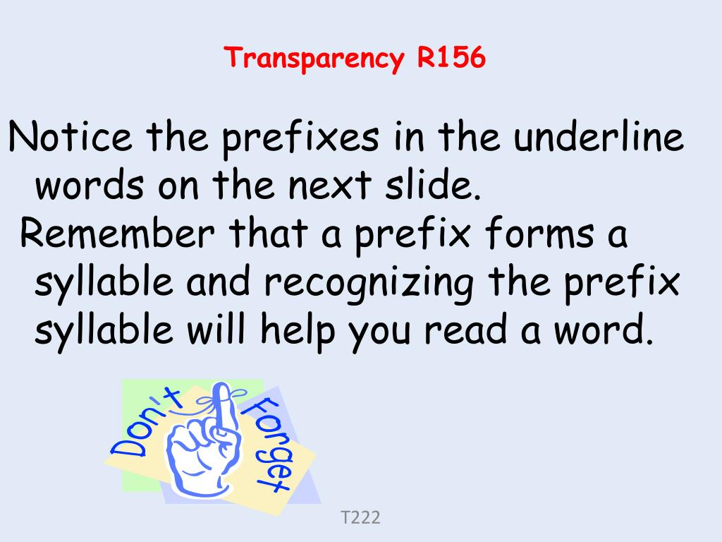 Transparency R156