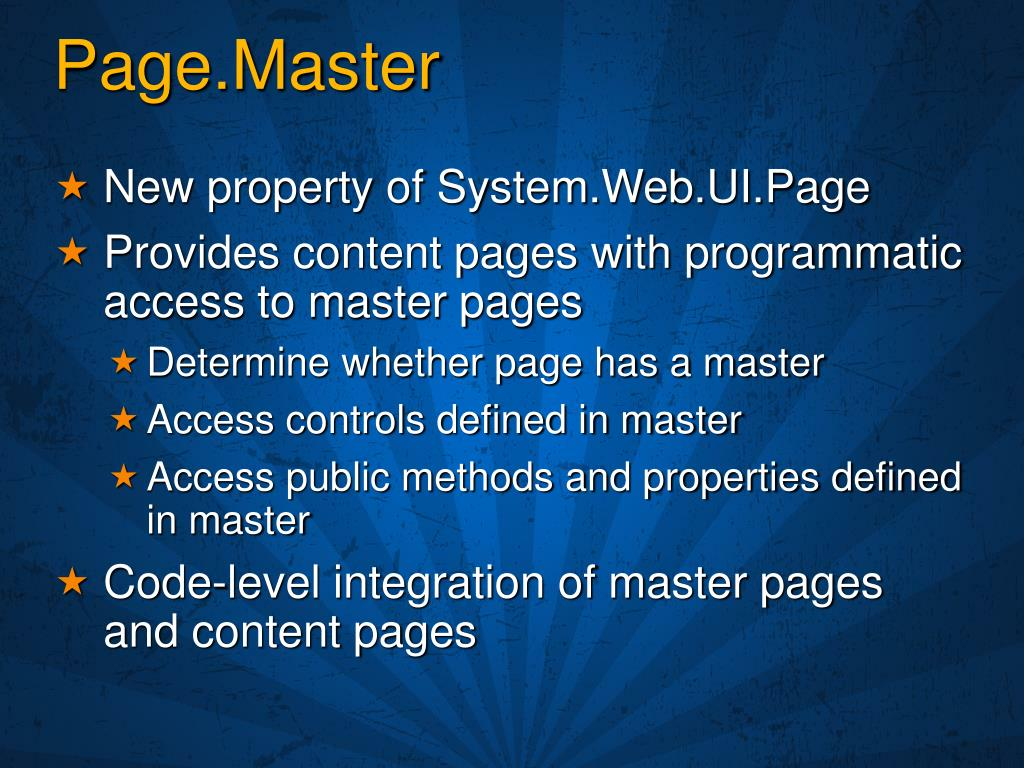 Page.Master