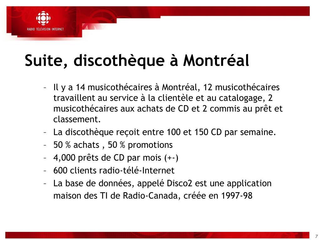 Suite, discothèque à Montréal