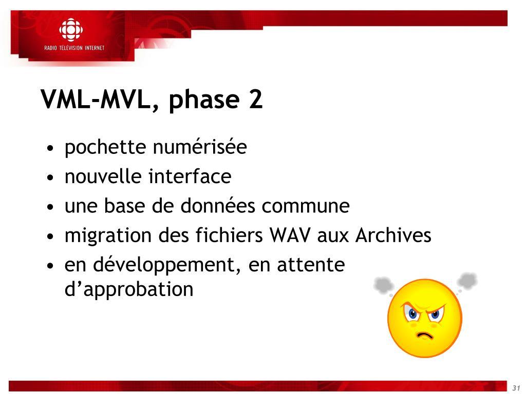 VML-MVL, phase 2