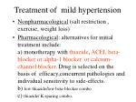 treatment of mild hypertension