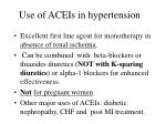 use of aceis in hypertension