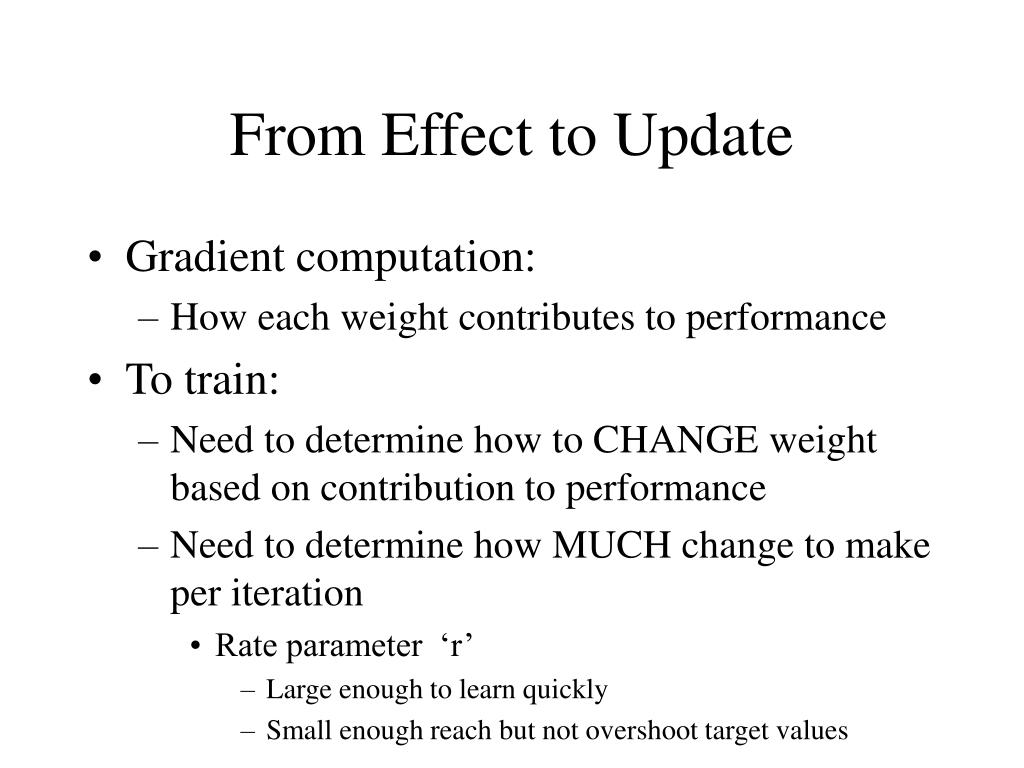 From Effect to Update