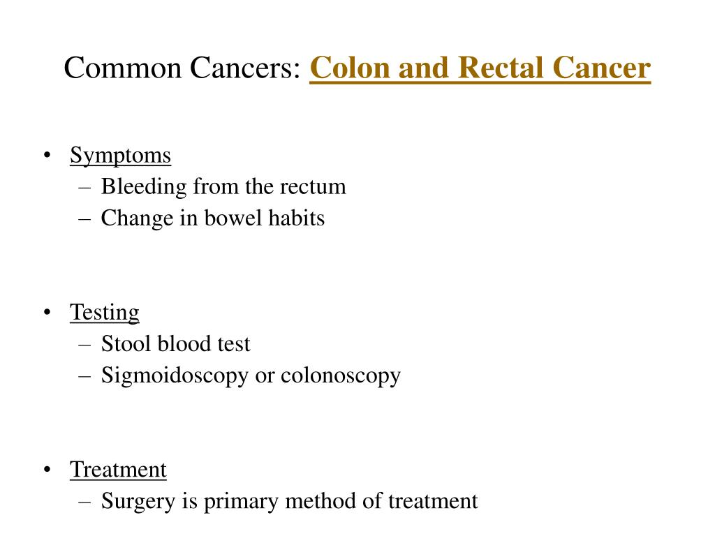 Common Cancers: