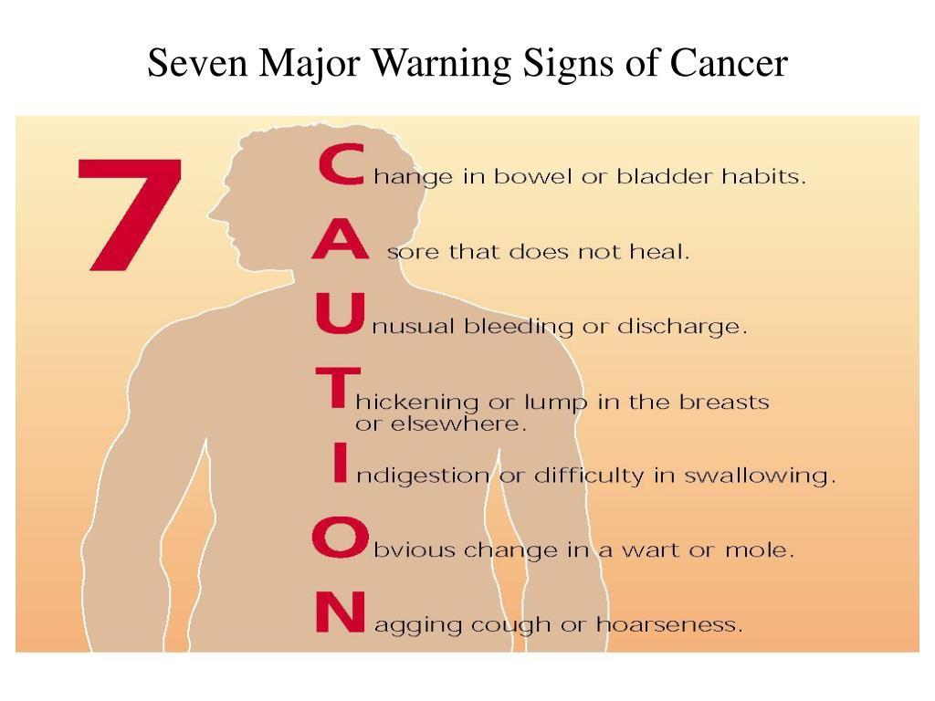 Seven Major Warning Signs of Cancer