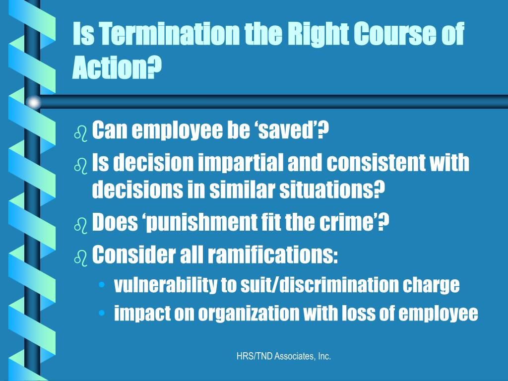 Is Termination the Right Course of Action?