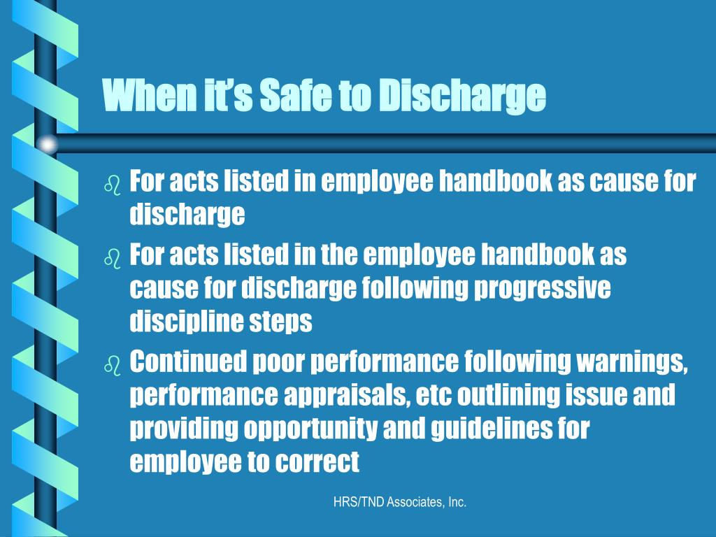 When it's Safe to Discharge