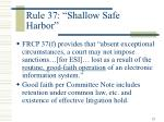 rule 37 shallow safe harbor