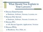 what should you explain to your lawyers