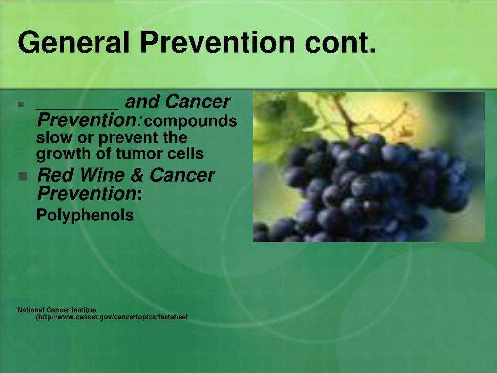 General Prevention cont.