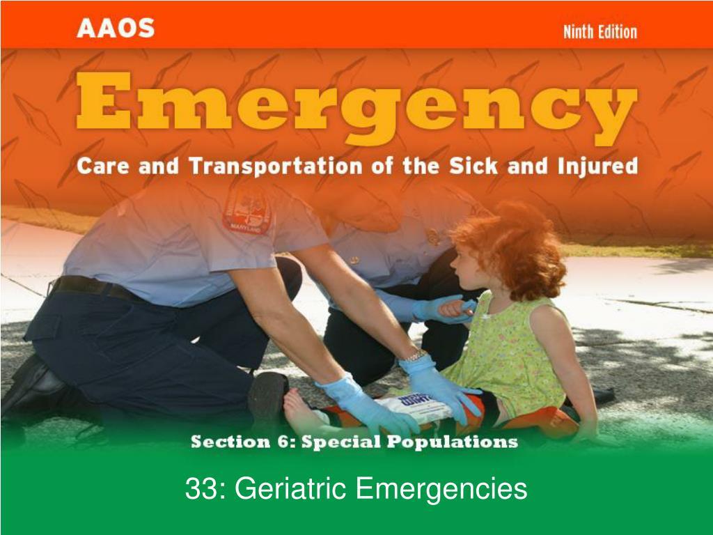33 geriatric emergencies l.