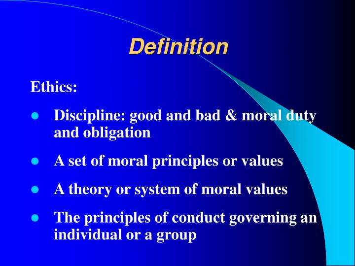 code of ethics definition pdf