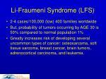 li fraumeni syndrome lfs