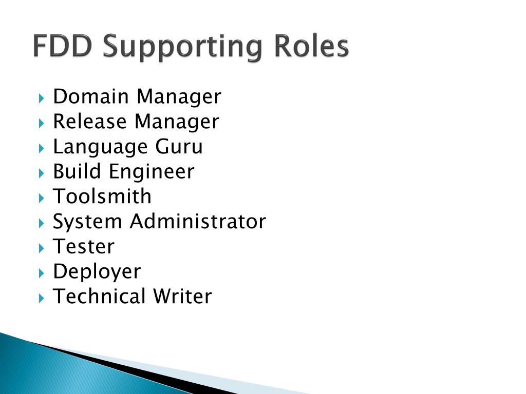 FDD Supporting Roles
