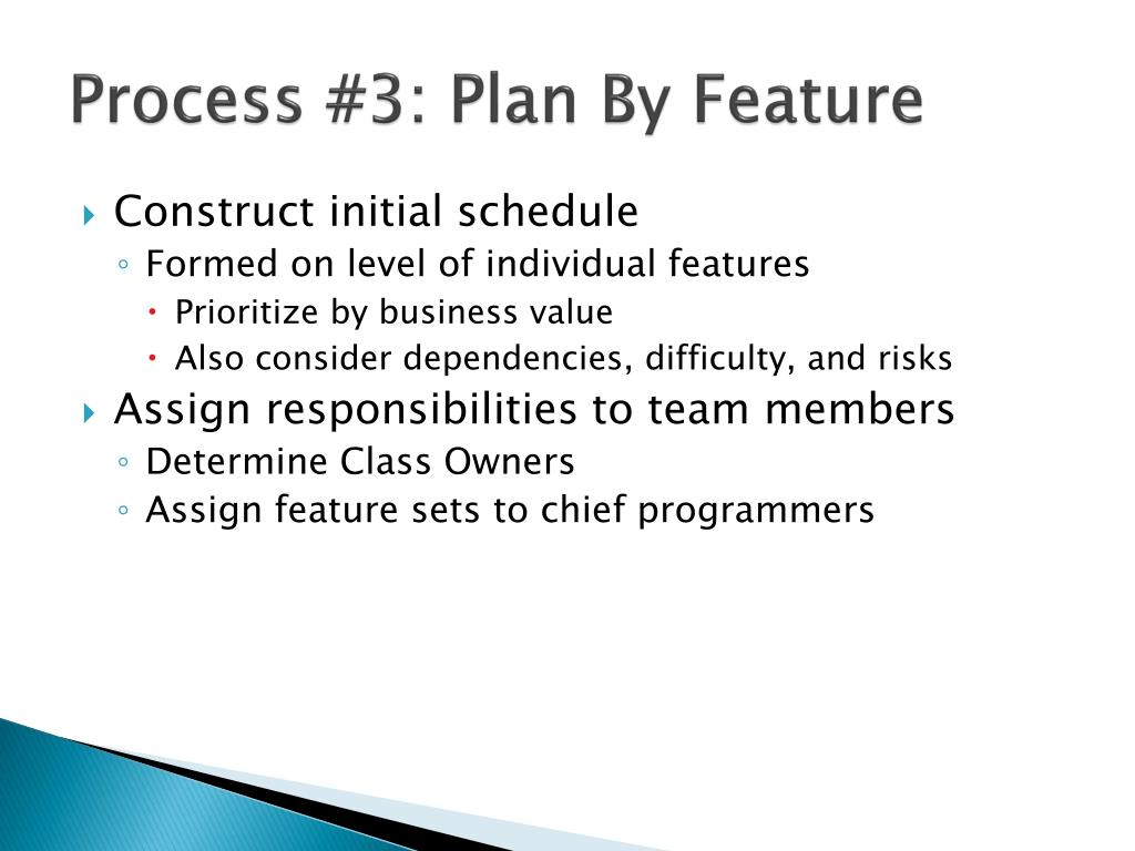 Process #3: Plan By Feature