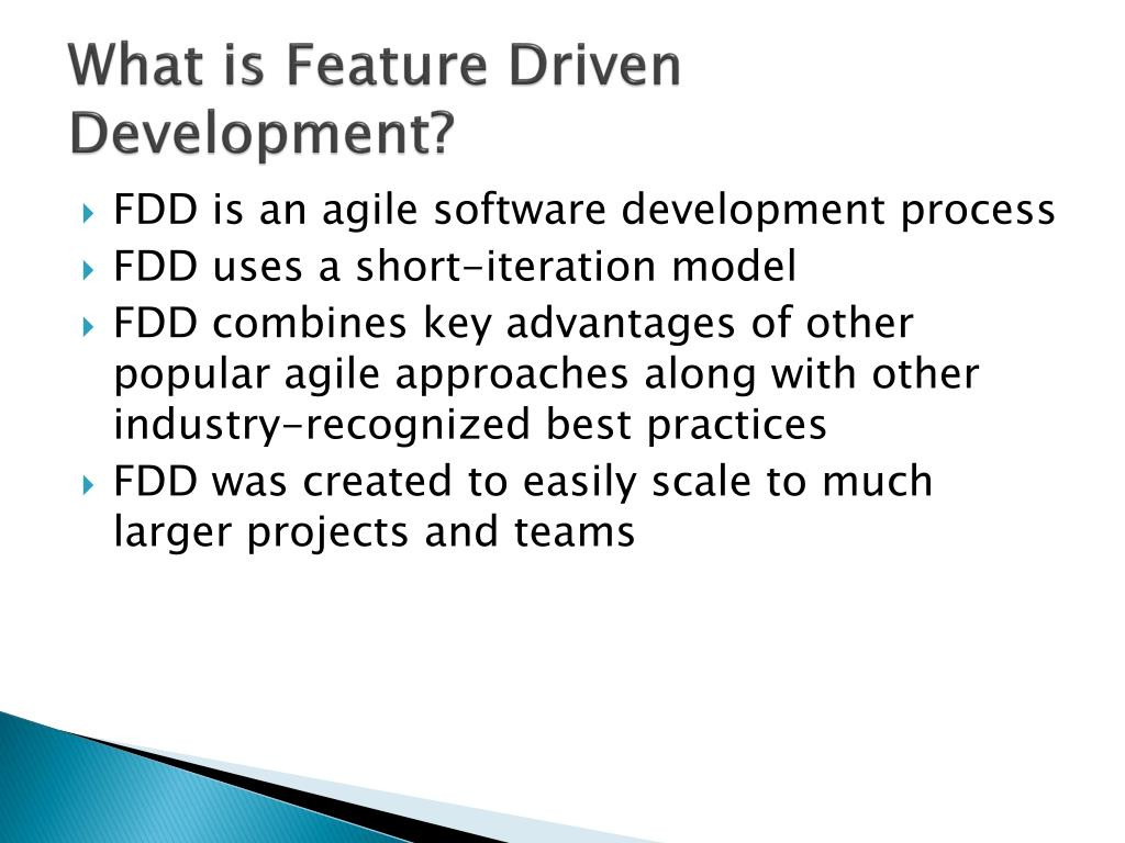 What is Feature Driven Development?