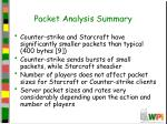 packet analysis summary