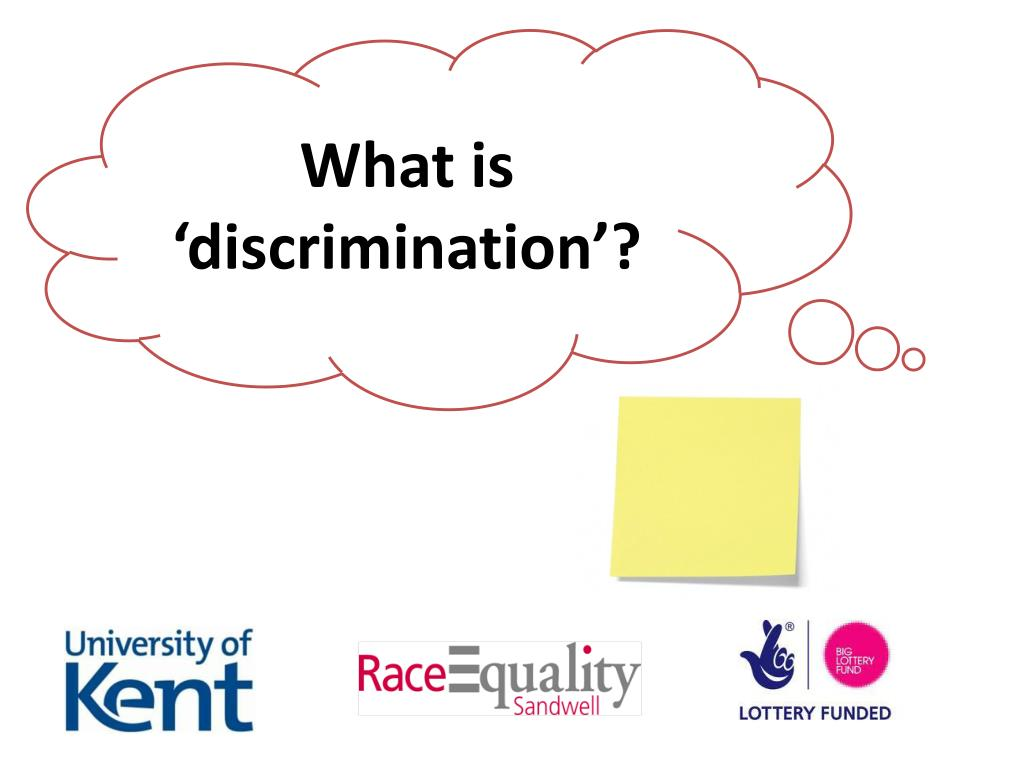 What is 'discrimination'?