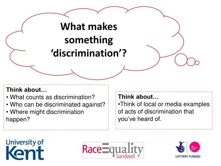 What makes something 'discrimination'?