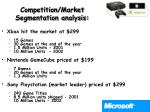 competition market segmentation analysis